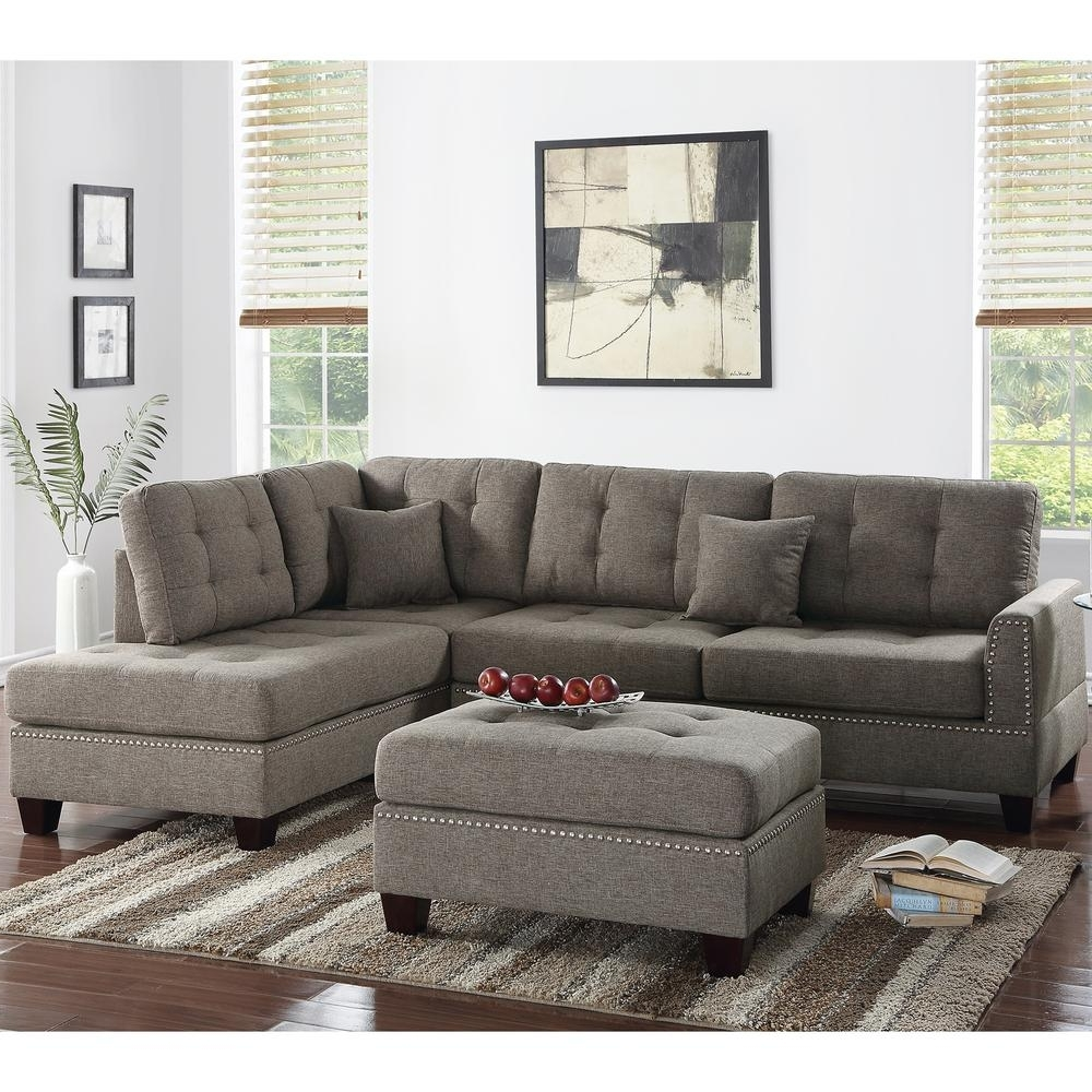 Latest Venetian Worldwide Barcelona 3 Piece Coffee Sectional Sofa With Within Home Depot Sectional Sofas (View 8 of 15)