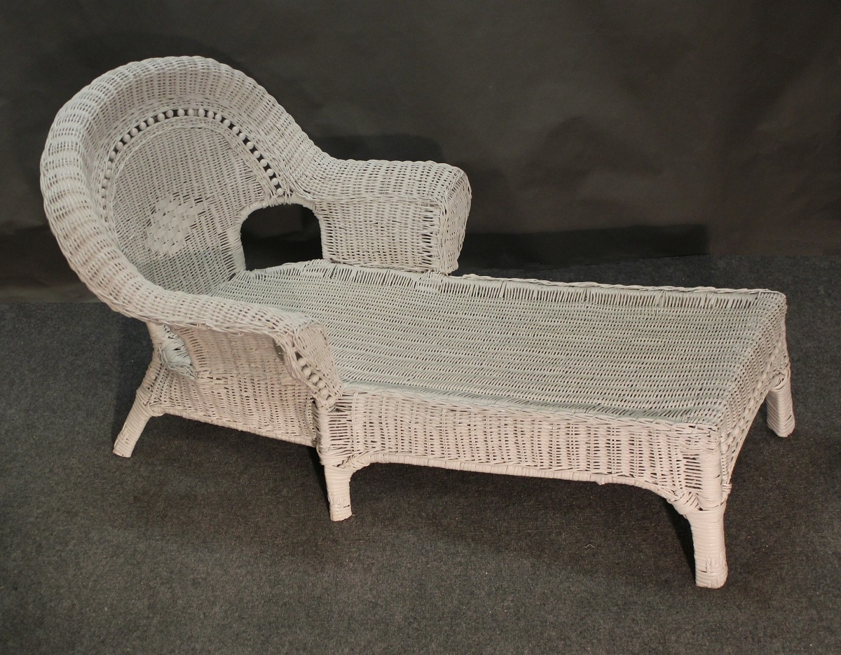 Latest Wicker Chaise Lounges For Child Beaded White Wicker Chaise Lounge : Jaetees Wicker, Wicker (View 14 of 15)