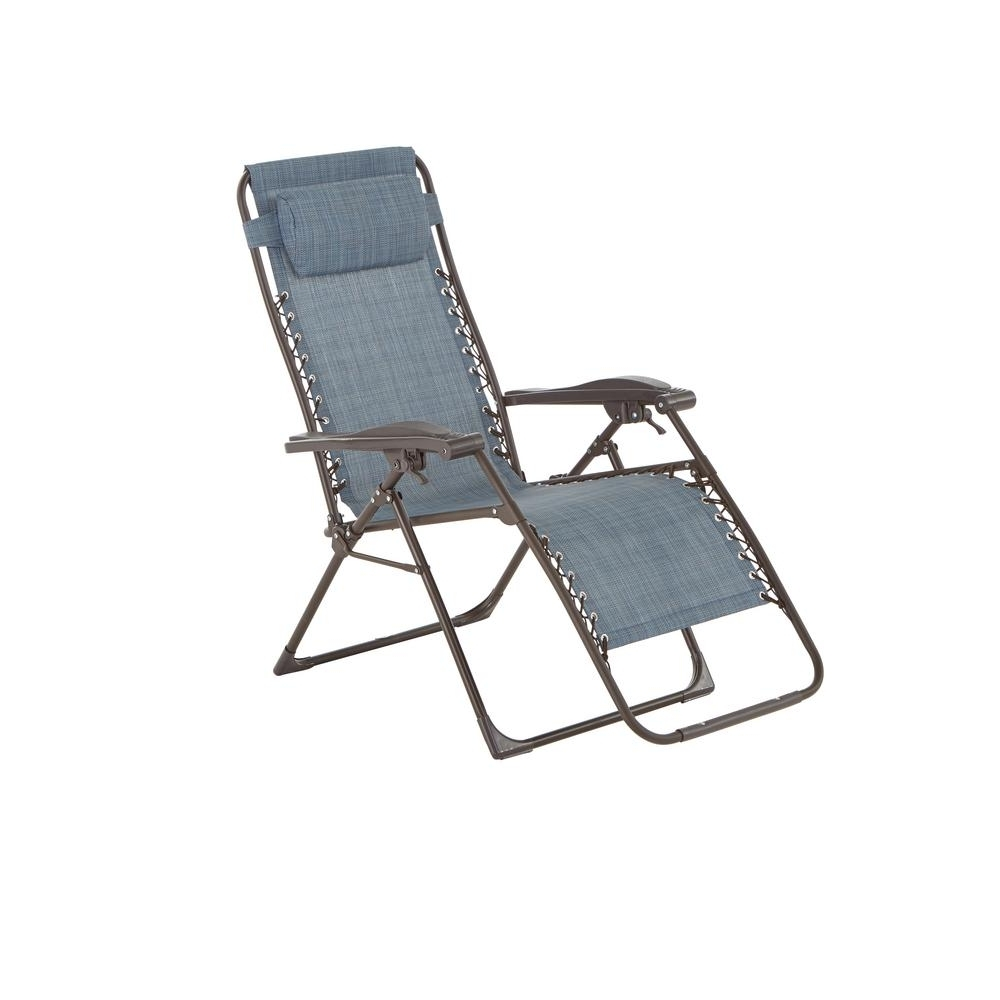 Latest Zero Chaise Lounges For Hampton Bay Mix And Match Zero Gravity Sling Outdoor Chaise Lounge (View 8 of 15)