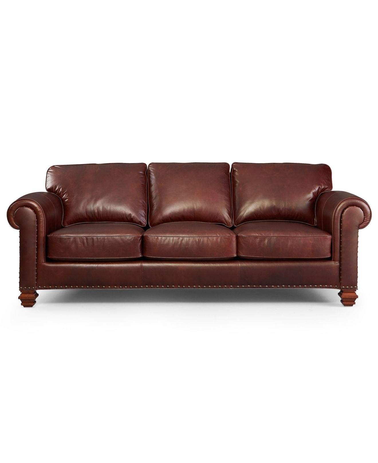 Lauren Ralph Lauren Leather Sofa, Stanmore – Living Room Furniture Throughout Widely Used Macys Leather Sofas (View 5 of 15)