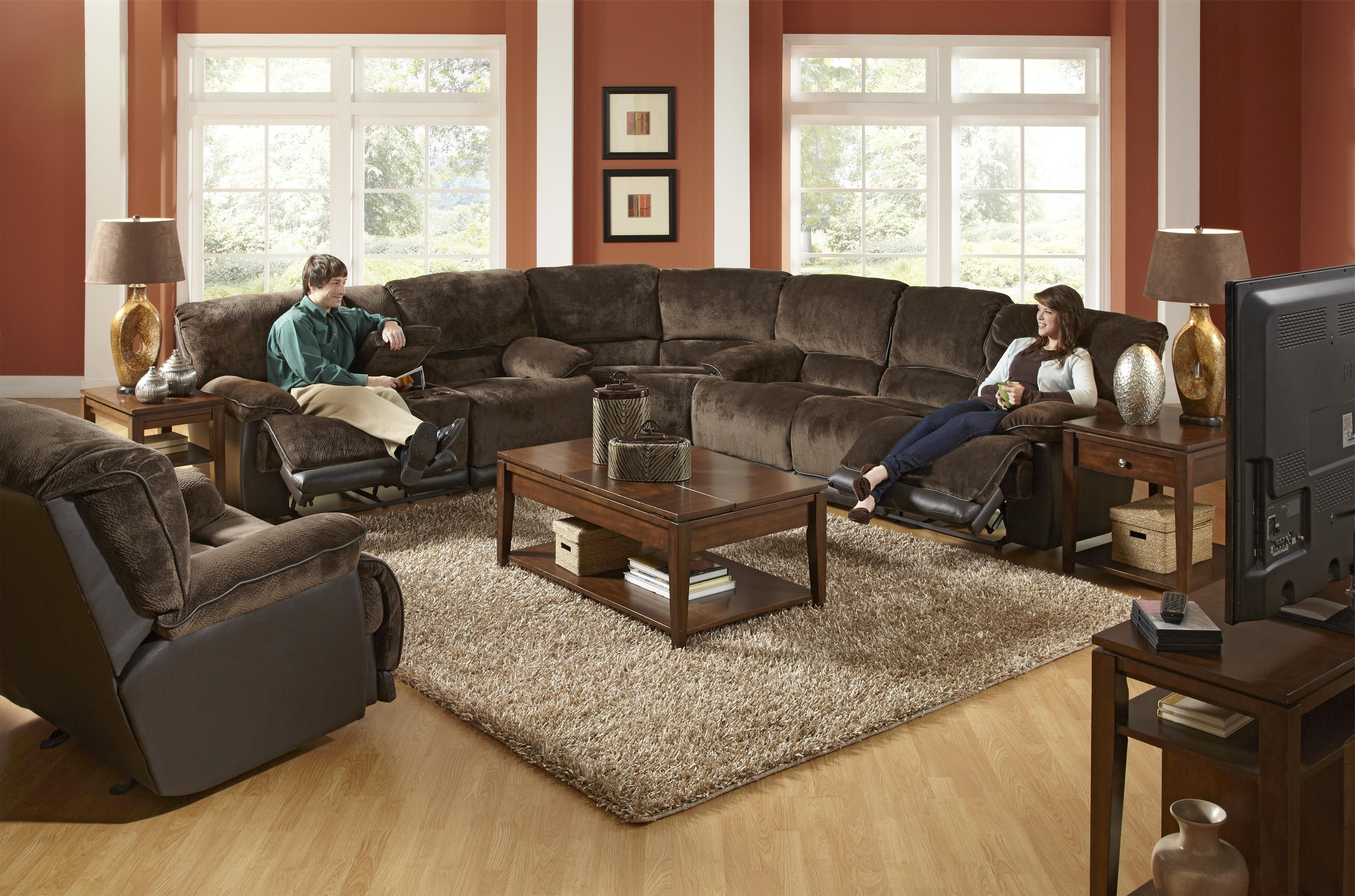 Layaway Sectional Sofas Throughout Popular A Reclining Sectional In The Transitional Style! Catnapper (View 10 of 15)