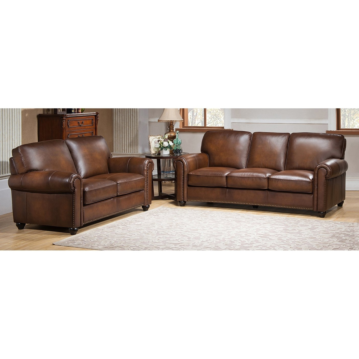 Lazyboy Sectional Prices Abbyson Montgomery Leather Reversible Pertaining To Trendy Sectional Sofas At Sam's Club (View 7 of 15)