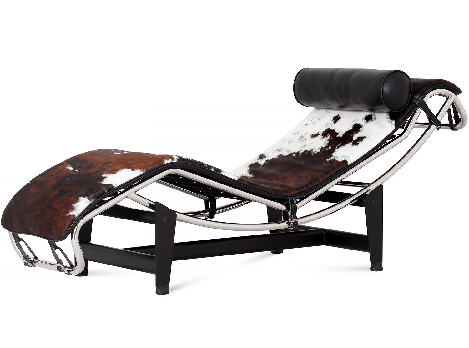Le Corbusier Lc4 Chaise Longue Cowhide (Platinum Replica) Within Most Up To Date Corbusier Chaises (View 9 of 15)