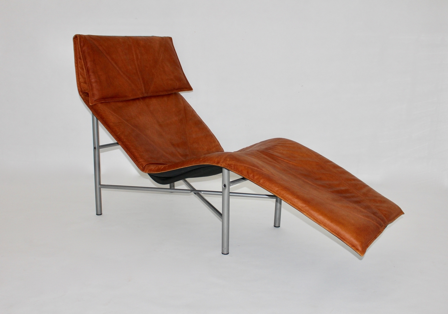 Leather Chaise Lounges Inside Latest Swedish Cognac Leather Chaise Loungetord Bjorklund, 1970S For (View 10 of 15)