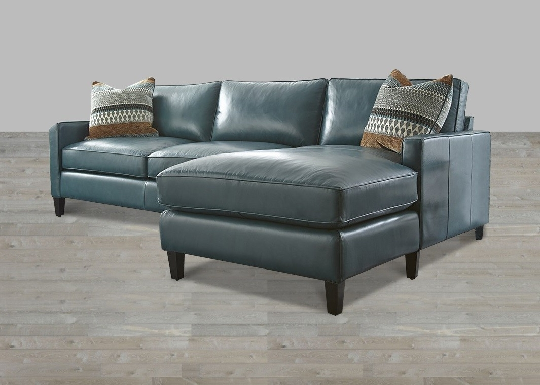 Leather Chaise Lounges Within Preferred Turquoise Leather Sectional With Chaise Lounge (View 5 of 15)