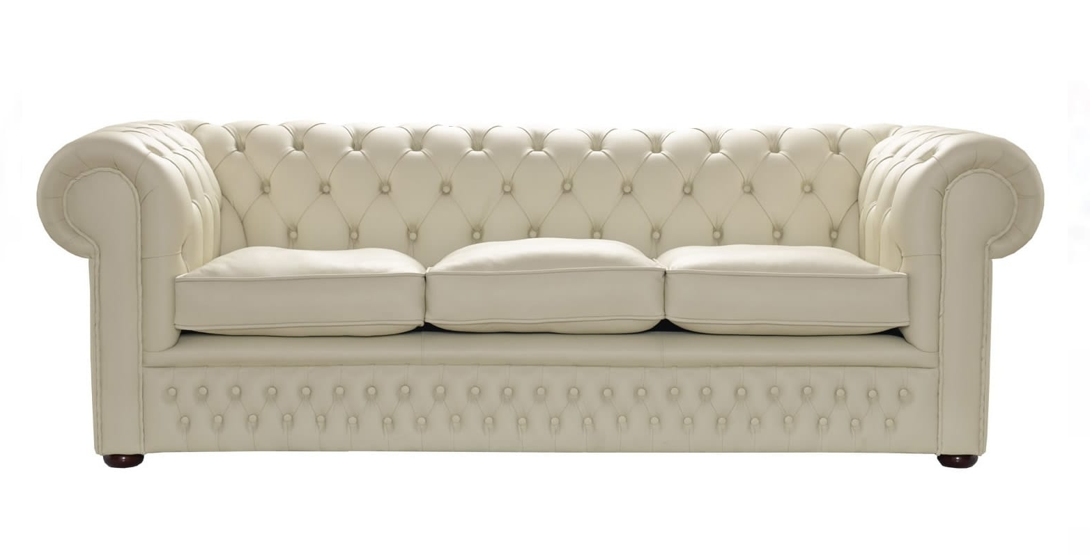 Leather Chesterfield Sofas Within Best And Newest Cream Leather Chesterfield Sofa, Handcrafted In The Uk (View 8 of 15)