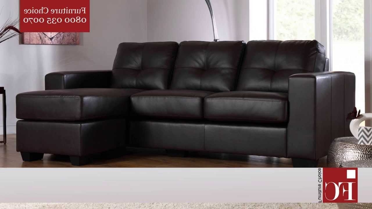 Leather Corner Sofas Within Most Recently Released Rio Leather Corner Sofas From Furniture Choice – Youtube (View 7 of 15)