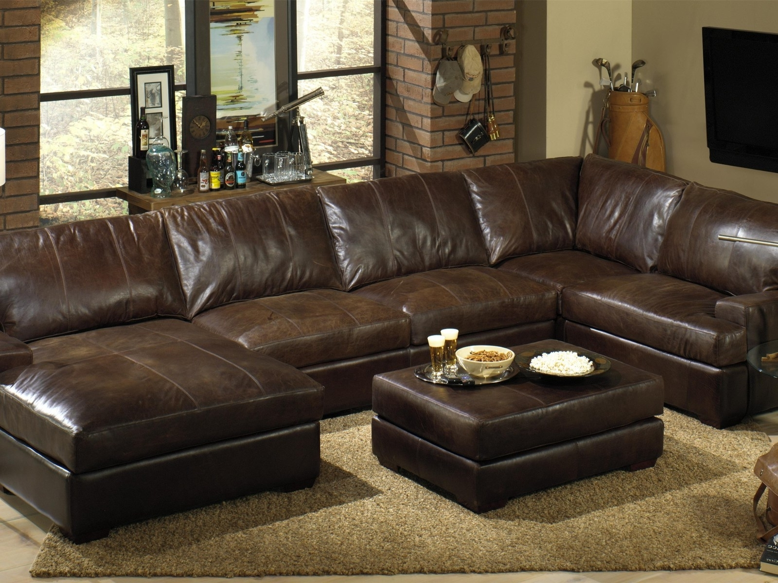 Leather Couches With Chaise Lounge With Well Known ▻ Sofa : 39 Sectional Sofa With Chaise Lounge Leather Sectional (View 12 of 15)