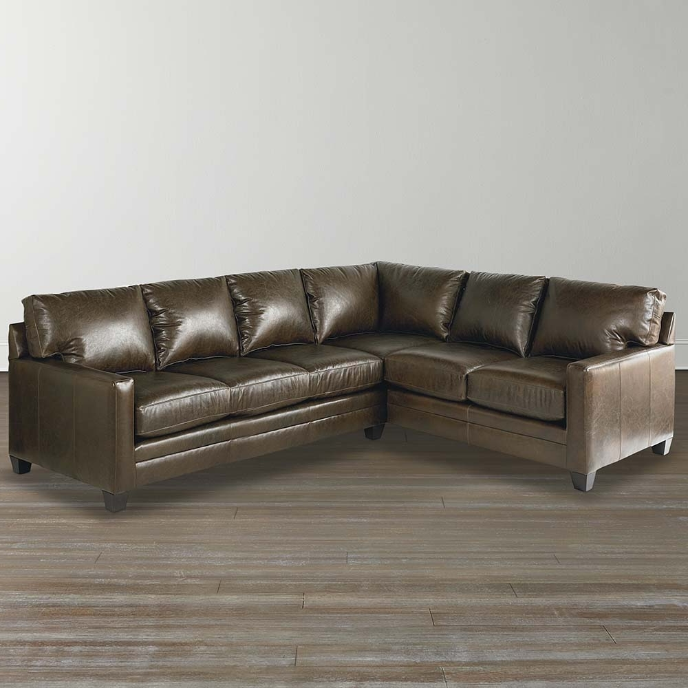 Leather L Shaped Sectional Sofas Pertaining To Well Known Cocoa Custom Leather L Shaped Sectional (View 3 of 15)