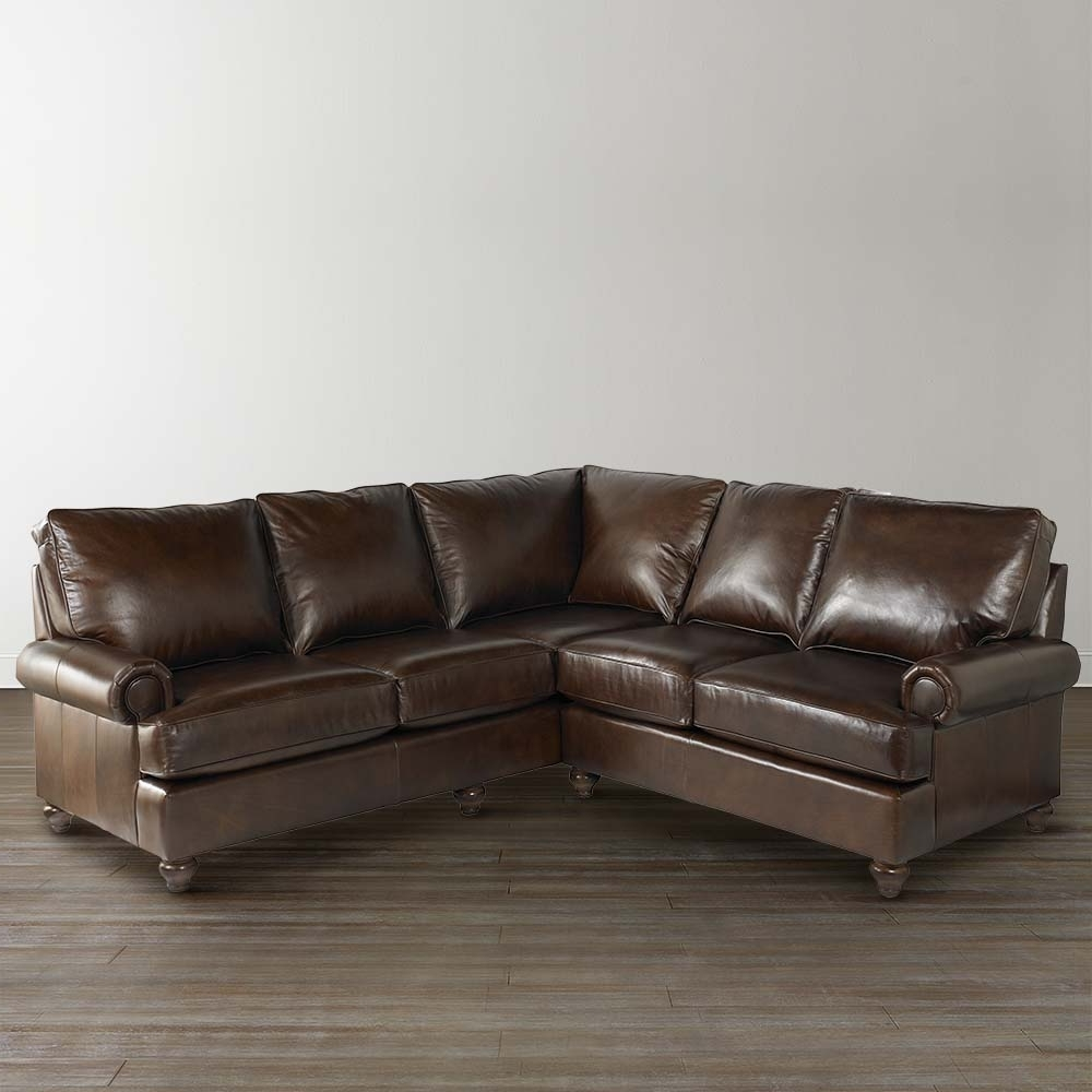 Leather L Shaped Sectional Sofas With Regard To Popular Sofa : Alluring Small L Sectional Sofa Couches Leather Sofas Small (View 14 of 15)