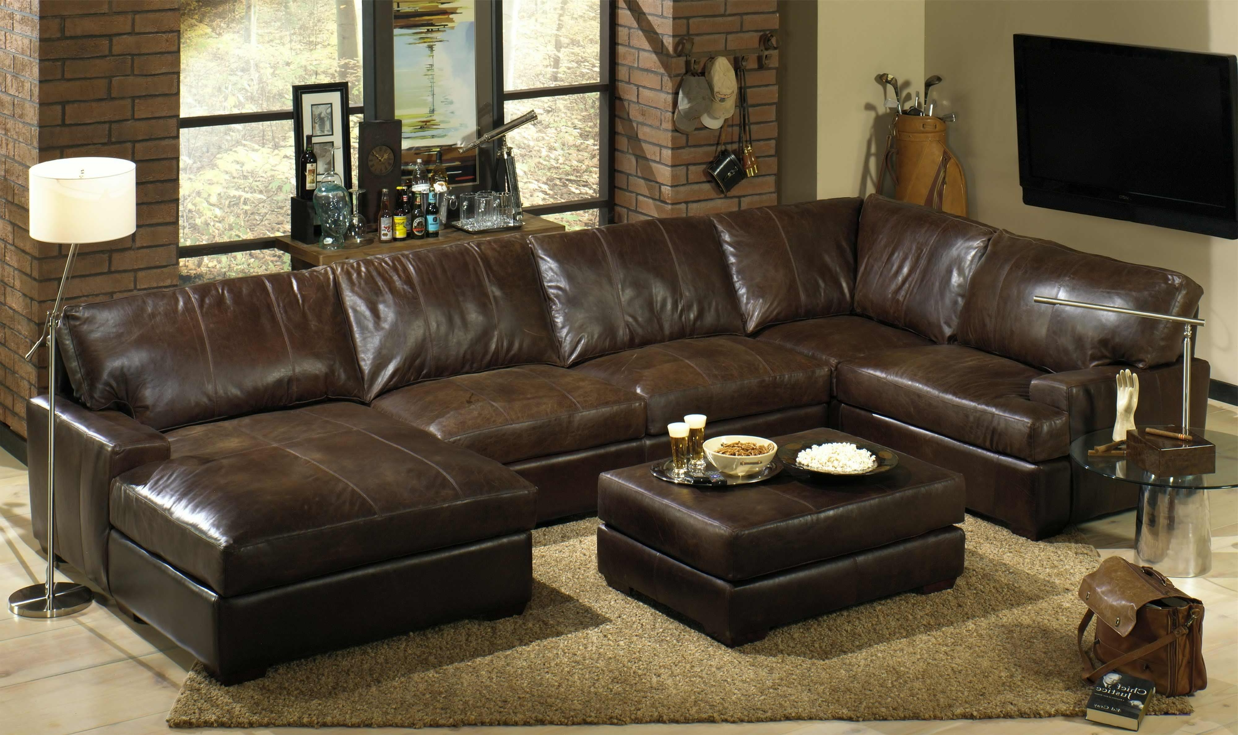 Leather Loveseat Recliner Leather Couches Clearance Leather Corner With Recent U Shaped Leather Sectional Sofas (View 6 of 15)