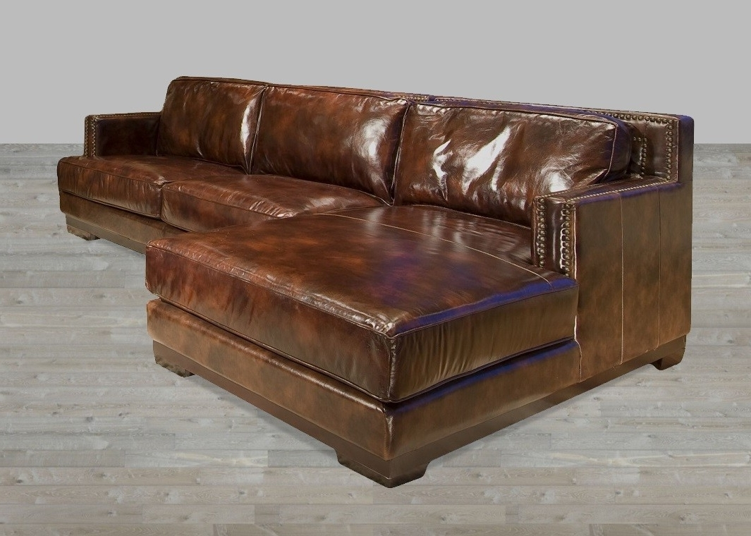 Leather Sectional Sofa With Chaise Lounge Leather Sectional Sofas Within Trendy Leather Couches With Chaise Lounge (View 4 of 15)