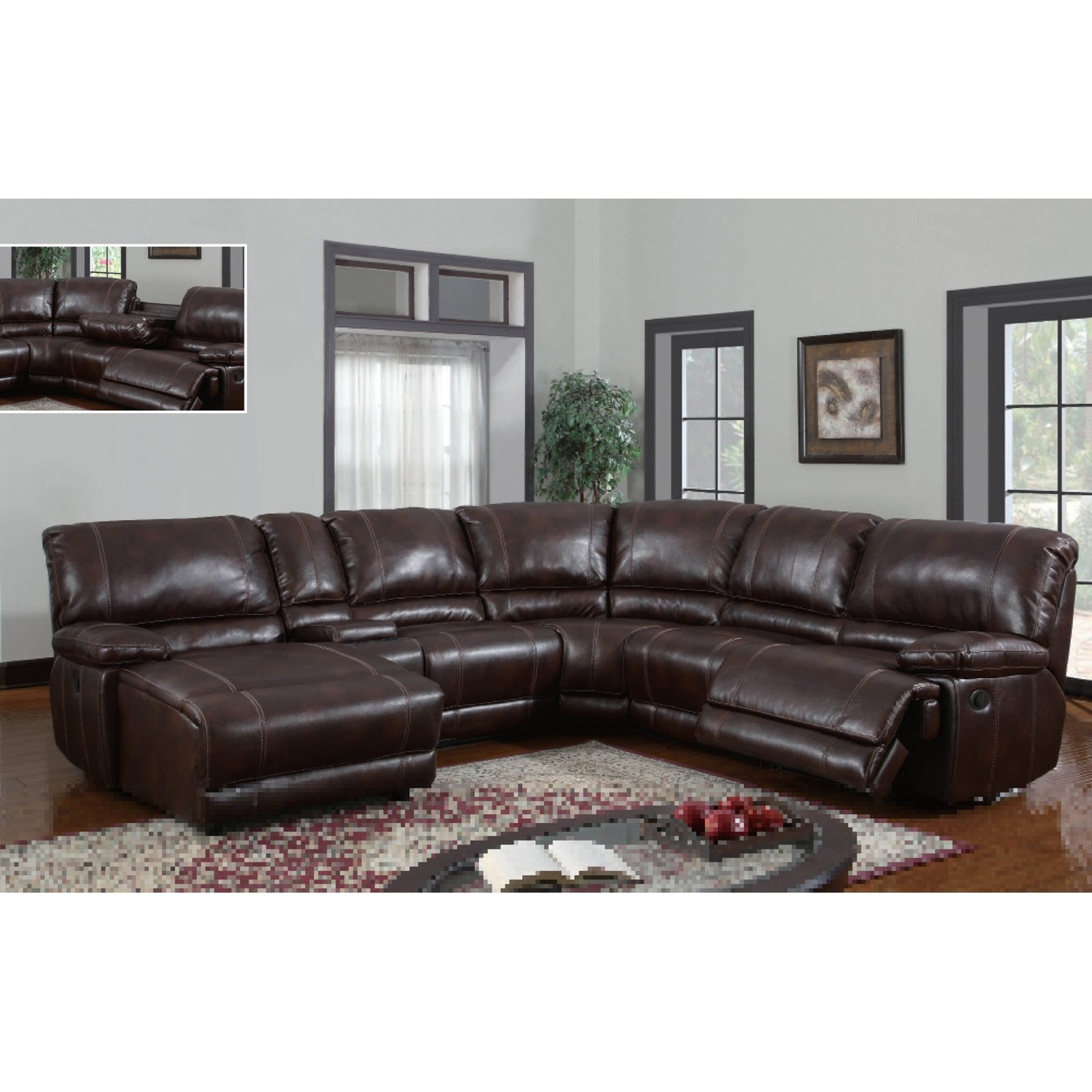 Leather Sectional Sofa With Power Recliner 11 With Leather Regarding Current Leather Recliner Sectional Sofas (View 11 of 15)