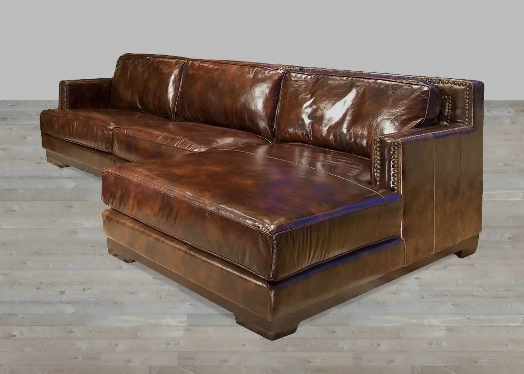 Leather Sectional Sofas With Chaise With Newest Sofa : Brown Microfiber Sectional Couch Brown Leather Reclining (View 9 of 15)