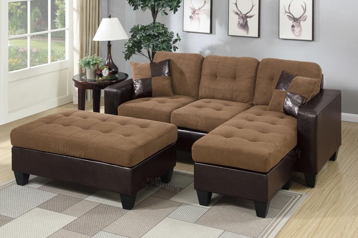 Leather Sectional Sofas With Ottoman With Regard To Widely Used Brown Leather Sectional Sofa And Ottoman – Steal A Sofa Furniture (View 9 of 15)