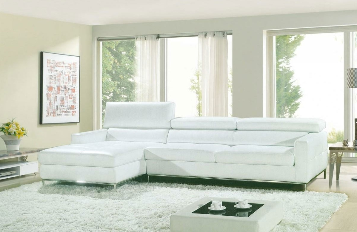 Leather Sectionals Intended For White Sectional Sofas (View 8 of 15)