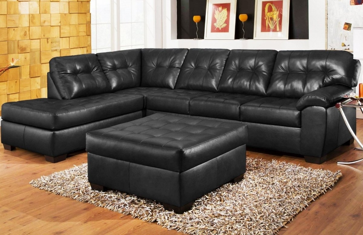 Leather Sofa Deals Poling Homes Second Hand Black Leather Sofas Pertaining To Trendy Sectional Sofas At Ebay (View 9 of 15)