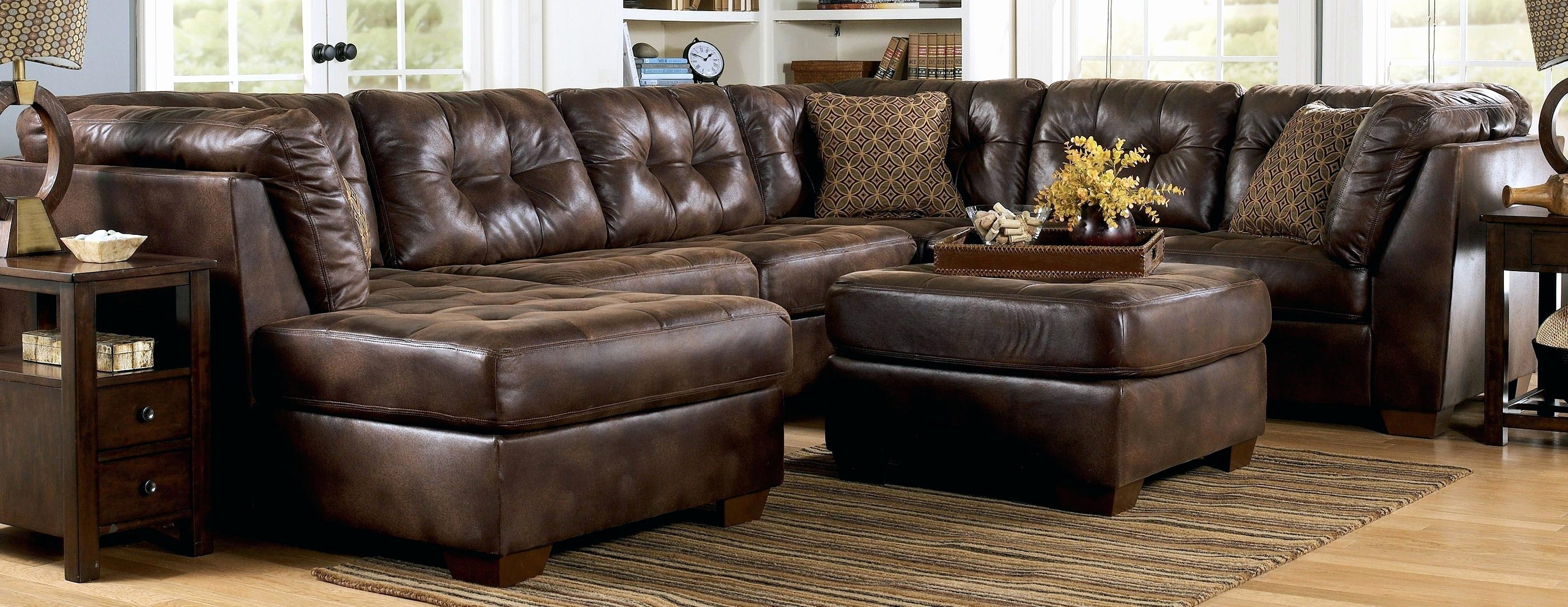 Leather Sofas With Chaise Lounge For Most Recently Released Awesome Brown Leather Couch With Studs 2018 – Couches And Sofas Ideas (View 5 of 15)