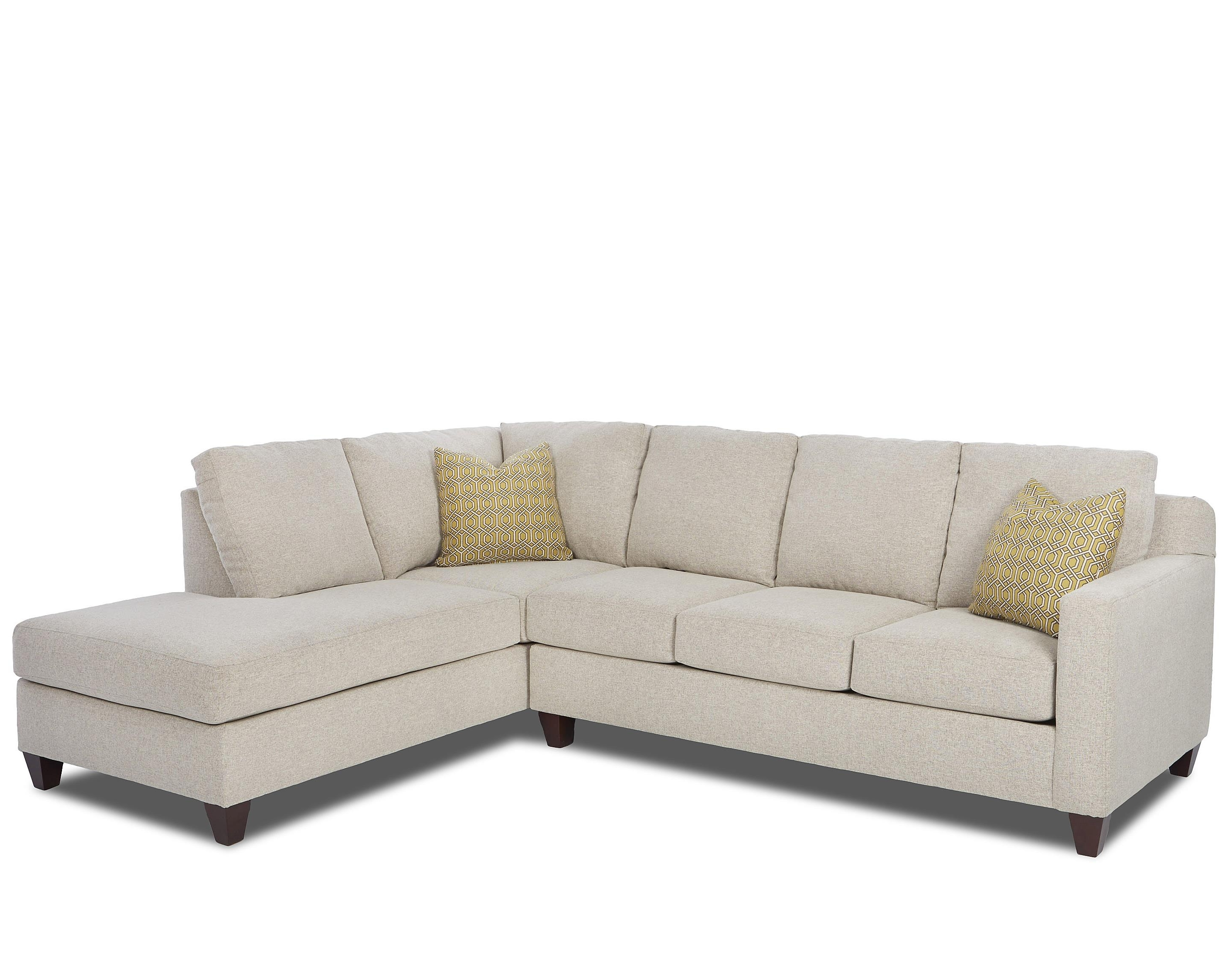 Left Facing Chaise Sectionals For Best And Newest Contemporary 2 Piece Sectional With Right Arm Facing Sofa Chaise (View 5 of 15)