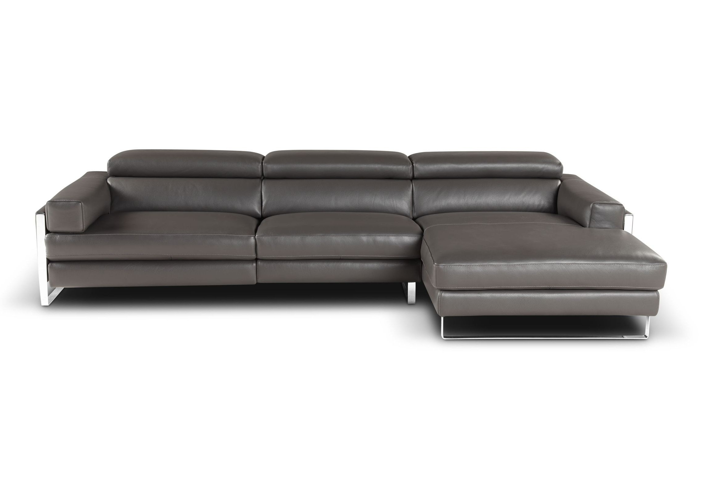 Left Facing Chaise Sectionals With Regard To Favorite Romeo Modern Sectional Left Facing Chaise (View 8 of 15)