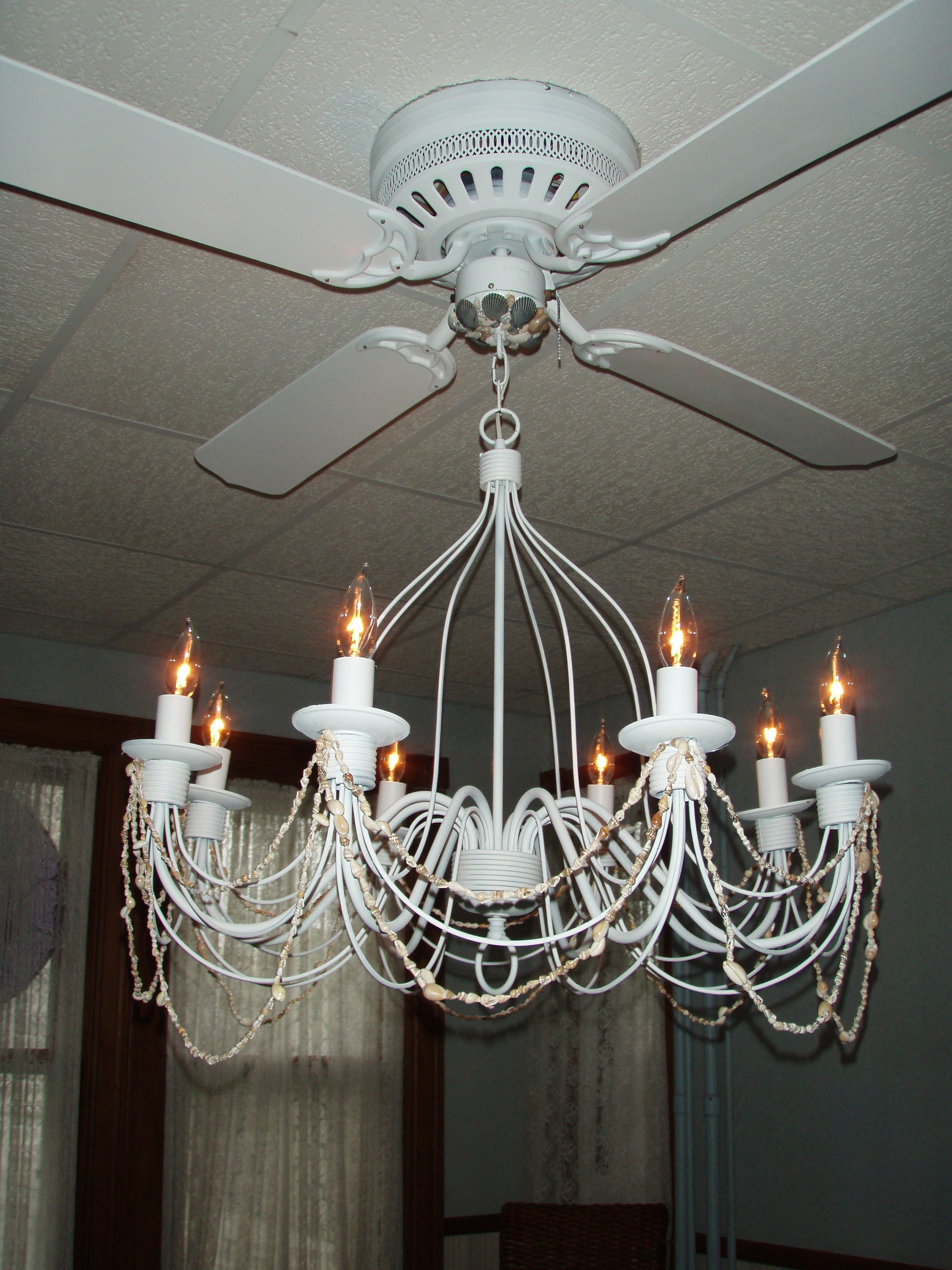 Light : Ceiling Fan Chandelier Combo With Top Of Warisan Lighting Regarding Most Up To Date Chandelier Light Fixture For Ceiling Fan (View 11 of 15)