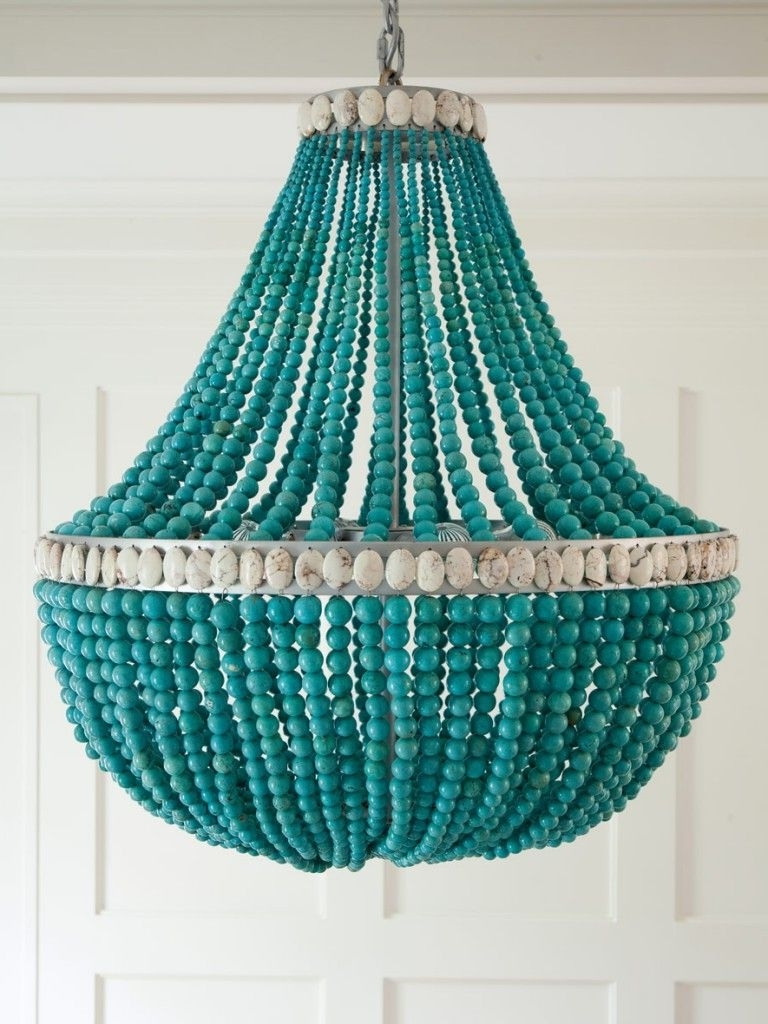 Lighting Love Intended For Most Popular Diy Turquoise Beaded Chandeliers (View 10 of 15)
