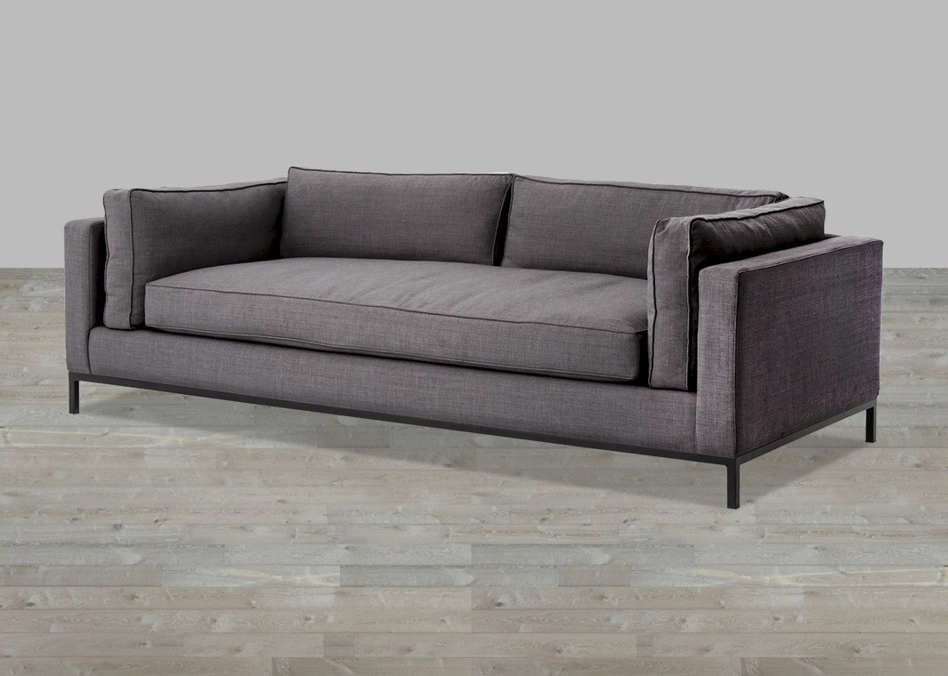 Linen Sofa With Single Seat Cushion inside Well-liked One Cushion Sofas