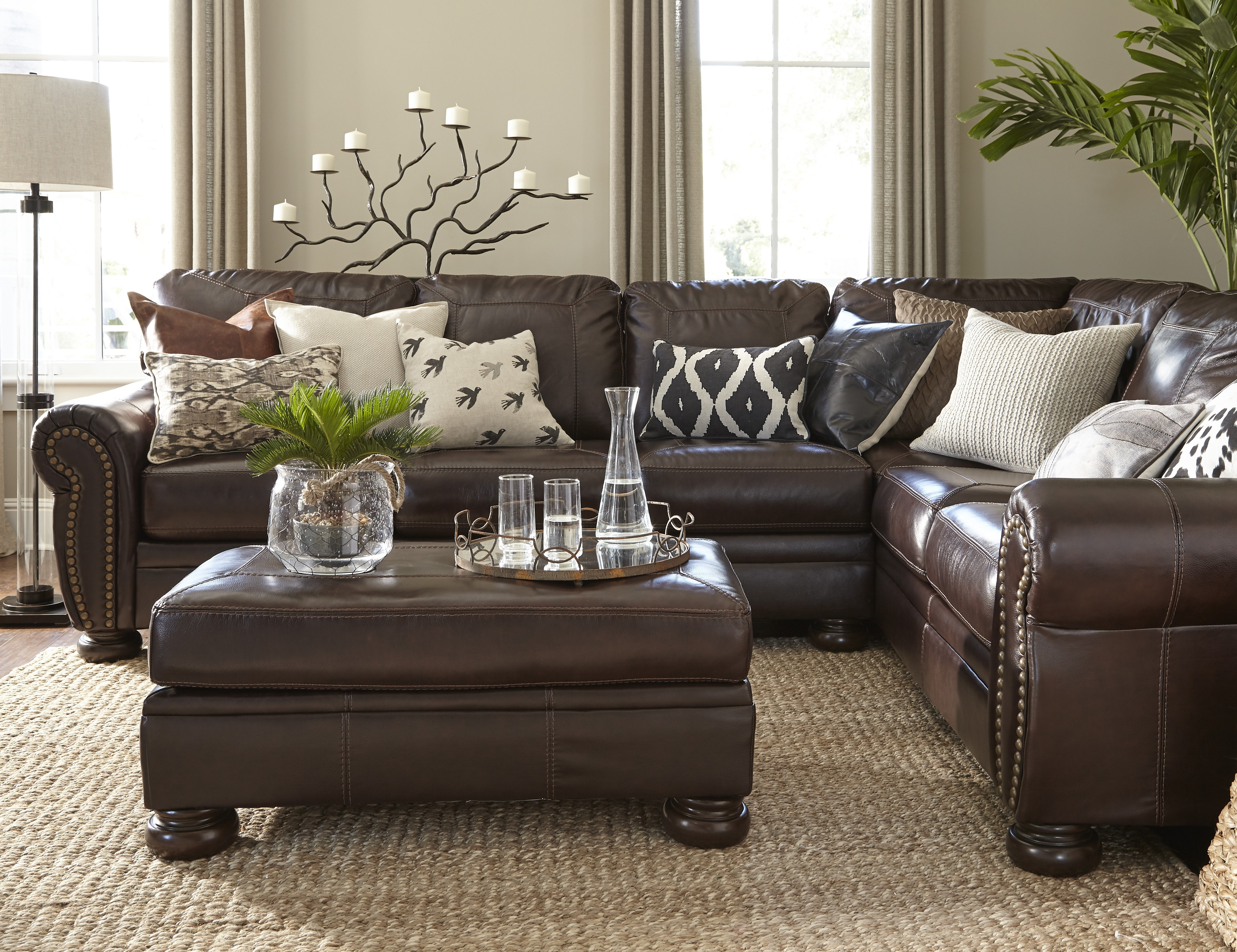 Living Room Colors With Brown Couch Mixing Leather Sofa With Regarding 2017 Brown Sofa Chairs (View 9 of 15)