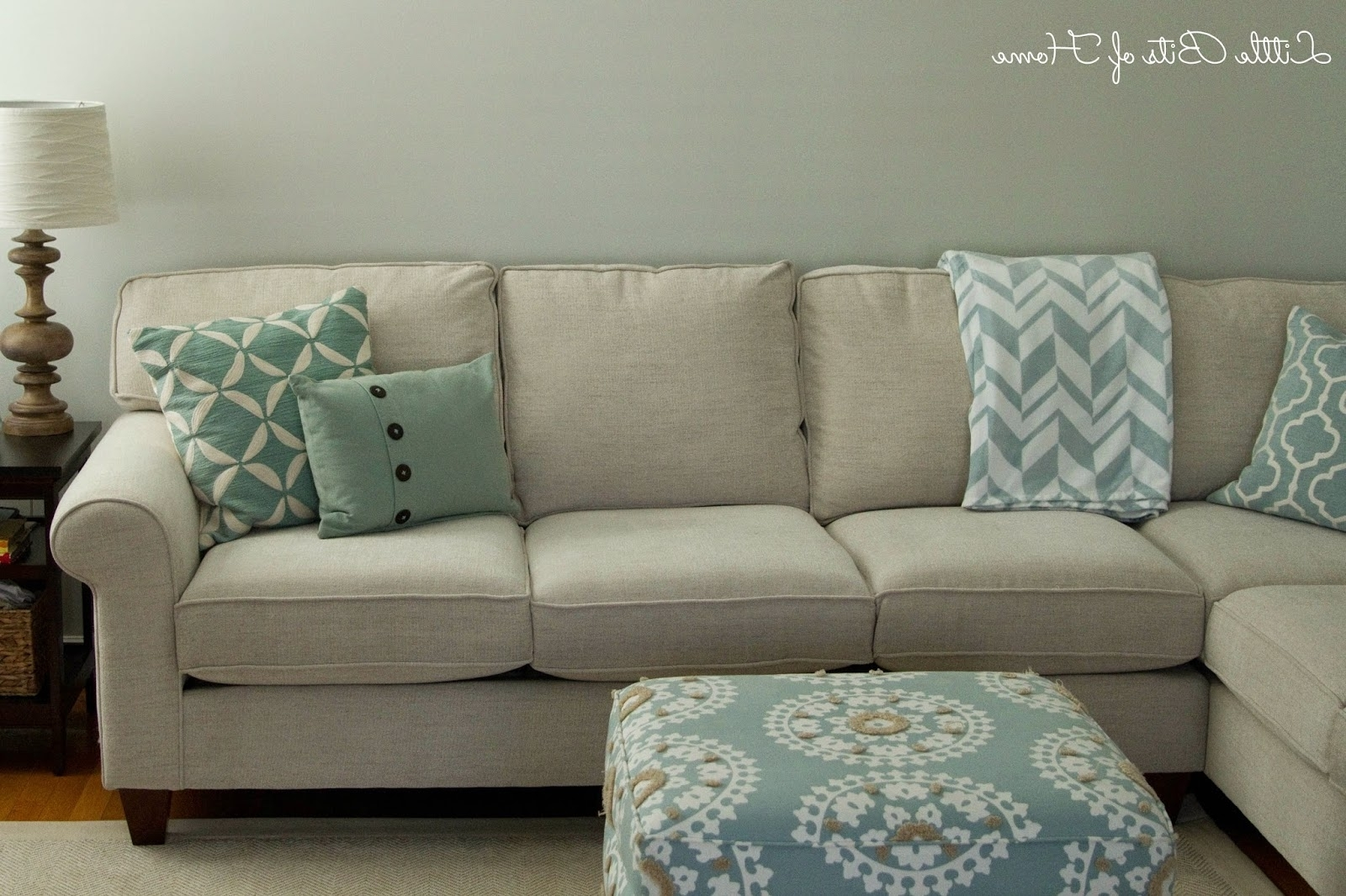 Living Room Makeover: Couch Redo Pertaining To Most Up To Date Sectional Sofas At Havertys (View 4 of 15)
