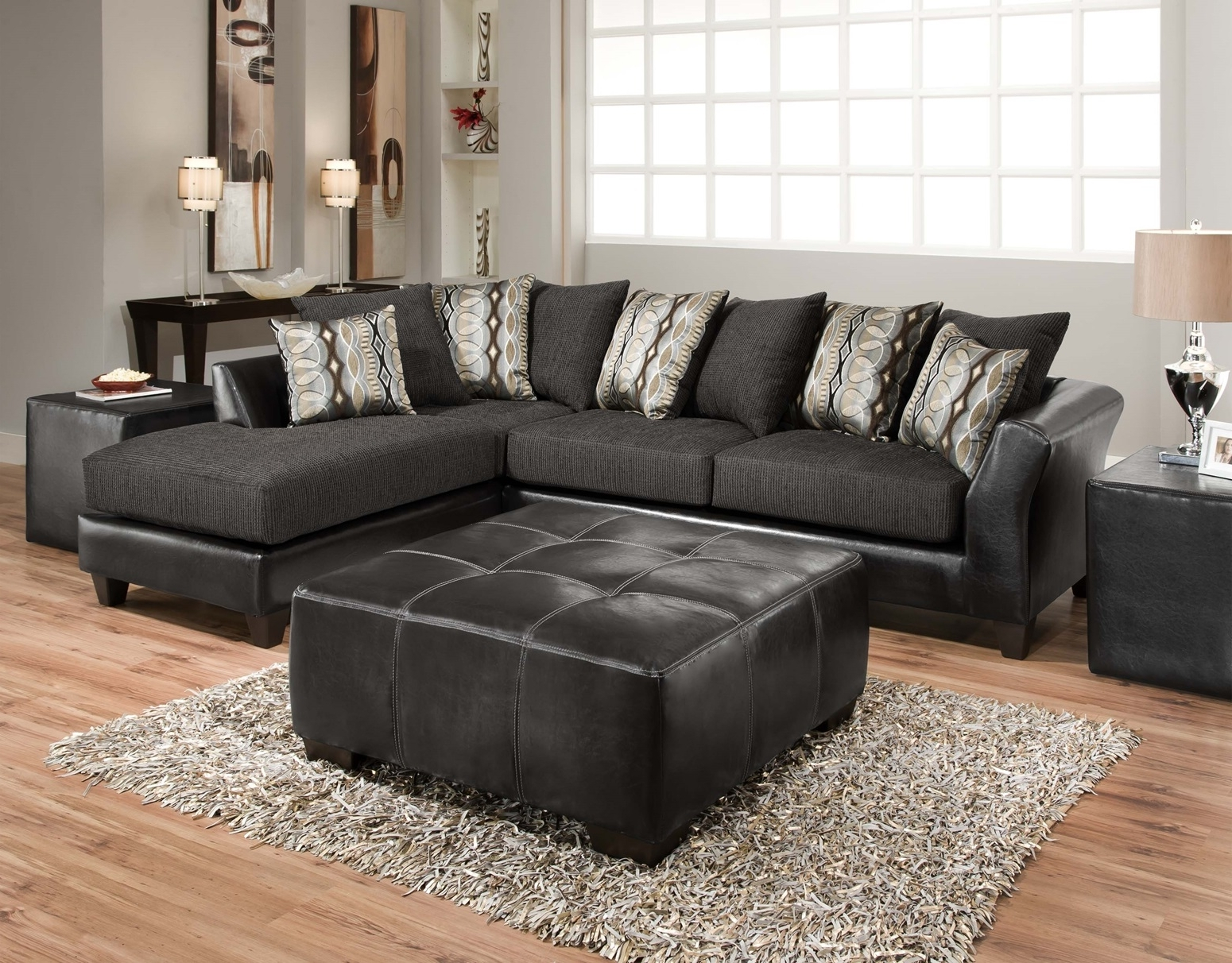 Living Room: Simple Sectional With Chaise For Small Space Living Inside Most Recent Charcoal Sectionals With Chaise (View 7 of 15)