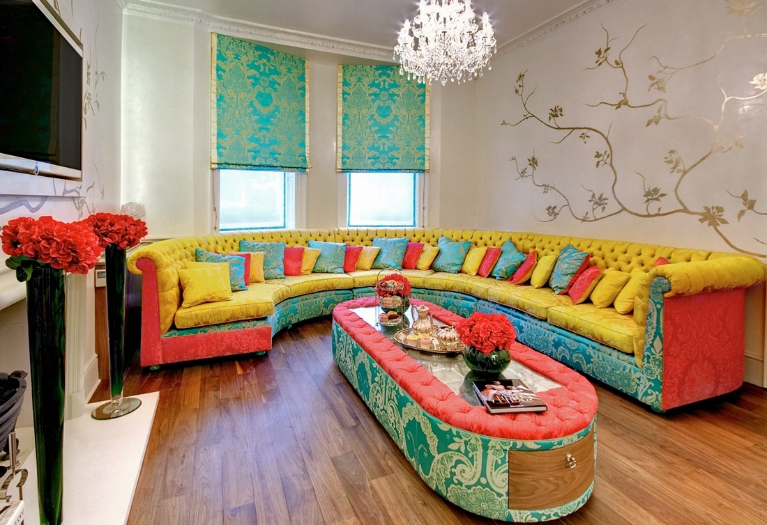 Living Room : Small Living Room Furniture Corner Sectional Couch Throughout Well Known Colorful Sofas And Chairs (View 9 of 15)