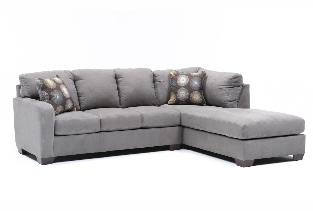 Living Spaces Regarding Gray Couches With Chaise (View 7 of 15)