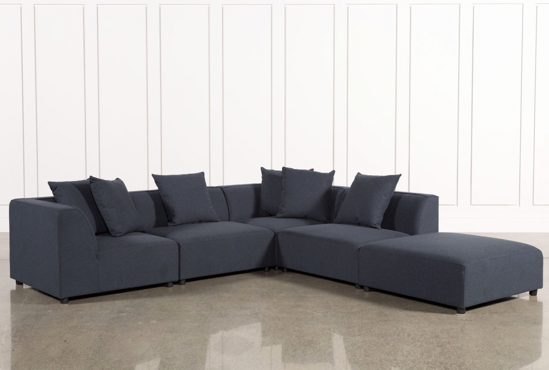 Living Spaces Sectional Sofas For Recent Furniture: Lovely 5 Piece Sectional Sofa With Chaise  (View 7 of 15)