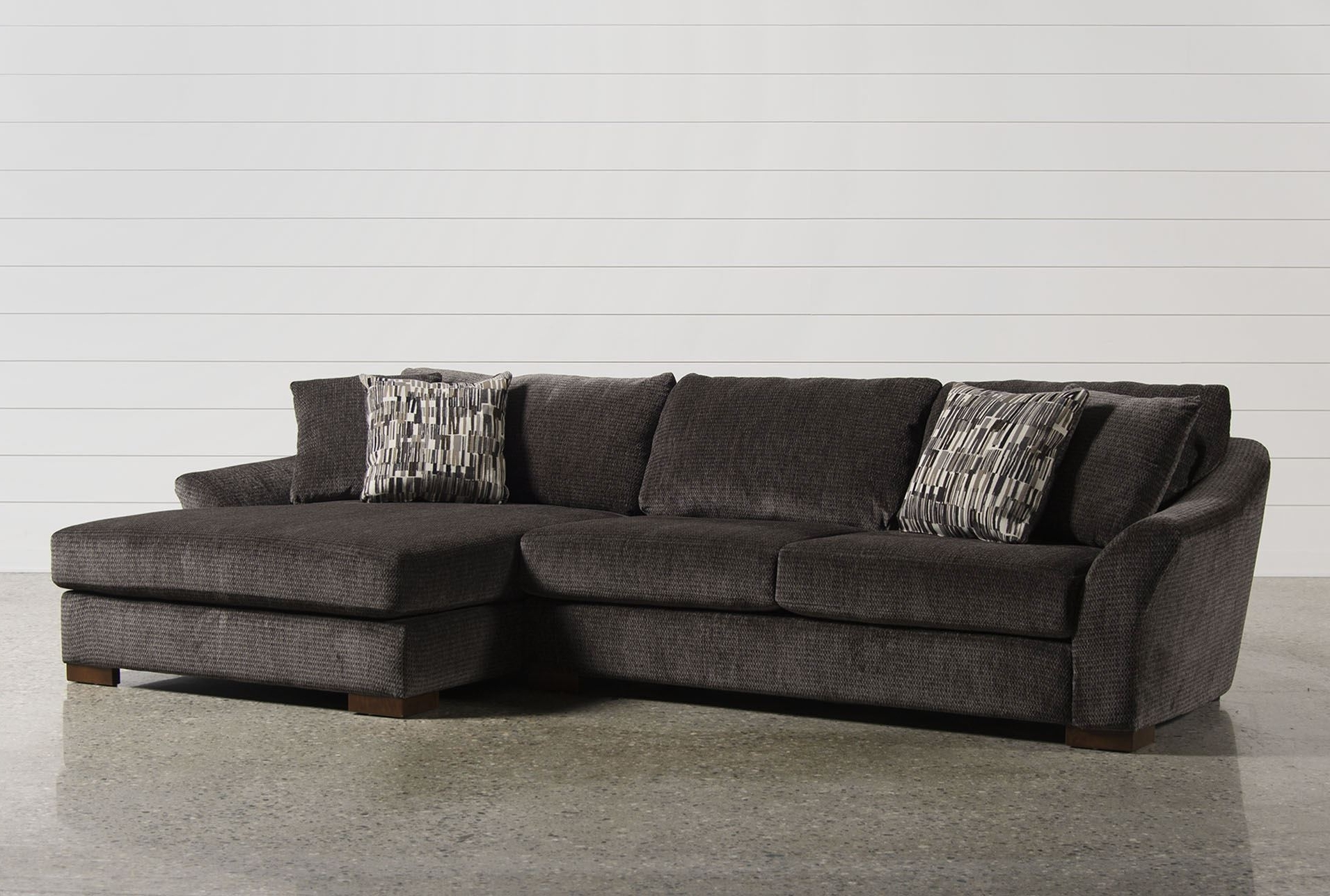 Living Spaces Sectional Sofas Intended For Preferred 2 Piece Sectional Sofa – Visionexchange (View 10 of 15)