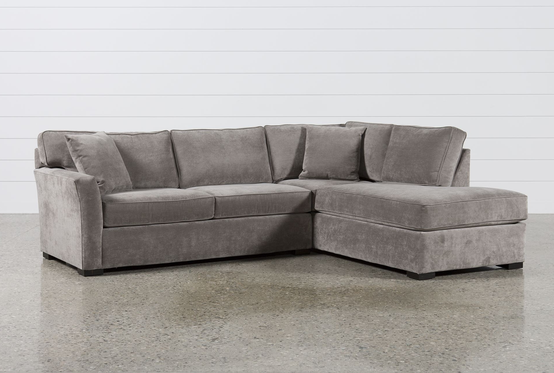 Living Spaces Sectional Sofas Within Well Known Aspen 2 Piece Sleeper Sectional W/laf Chaise (View 11 of 15)