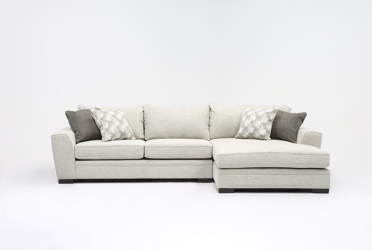 Living Spaces Throughout Popular 2 Piece Sectional Sofas With Chaise (View 13 of 15)