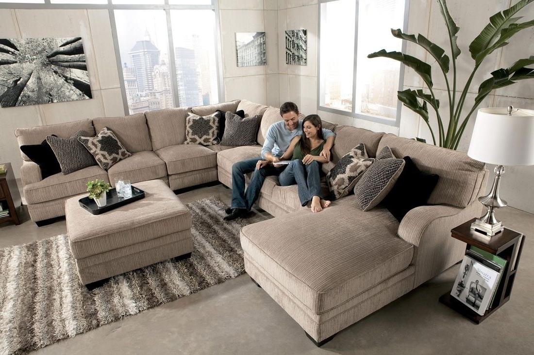 Long Chaise Sofas Inside Fashionable Sofa : Nice Large Sectional Sofa With Chaise Sofas Fancy As (View 8 of 15)