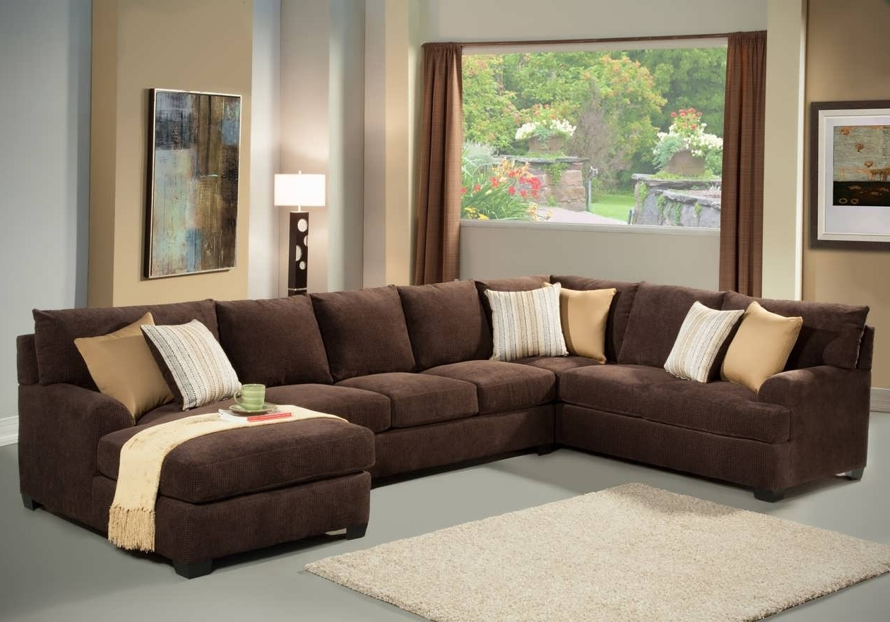 Long Couches With Chaise In Well Liked Sofa : Big Sectionals Deep Sectional Sofa Sectional Couches For (View 4 of 15)