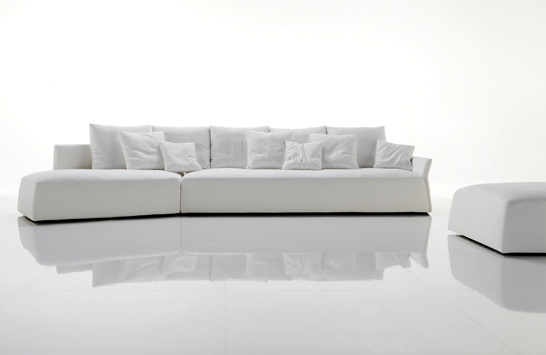 Long Modern Sofas For Famous Modern White Sleeper Sofa Tags : Modern White Sofa White Modern (View 5 of 15)