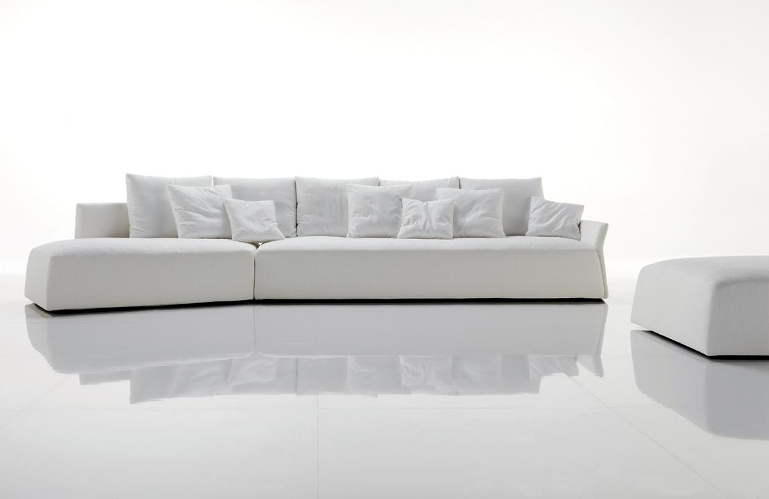 Long Modern Sofas For Famous Modern White Sleeper Sofa Tags : Modern White Sofa White Modern (View 6 of 15)