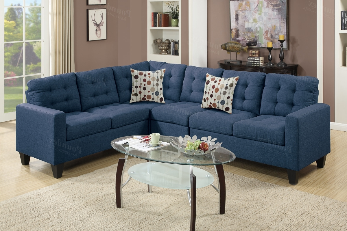 Los Angeles Sectional Sofas Pertaining To Best And Newest Blue Fabric Sectional Sofa – Steal A Sofa Furniture Outlet Los (View 4 of 15)
