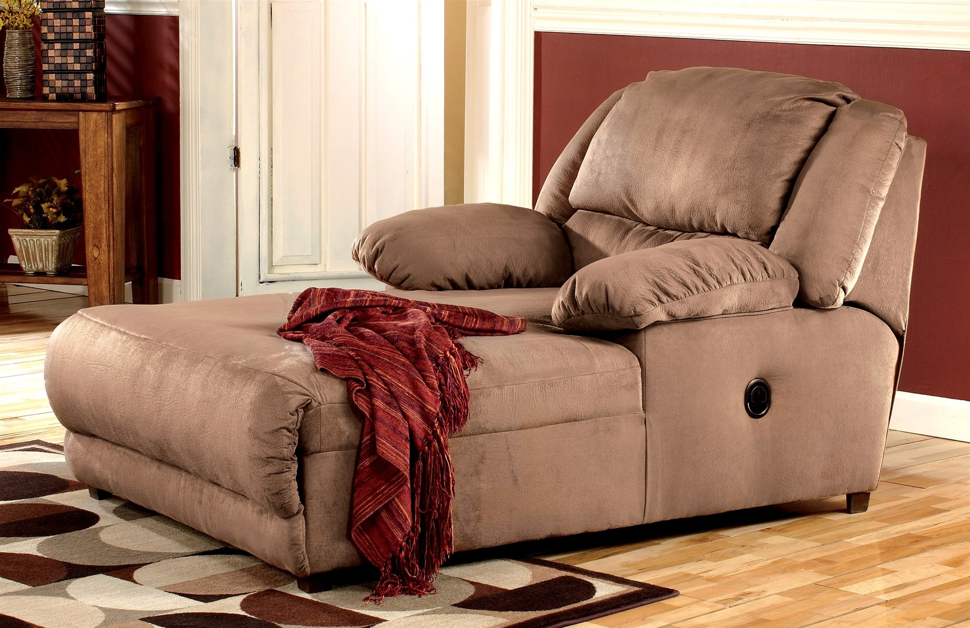 Lounge Chair : Small Bedroom Chaise Lounge Chairs Small Chaise With Regard To Best And Newest Double Chaise Lounges For Living Room (View 9 of 15)