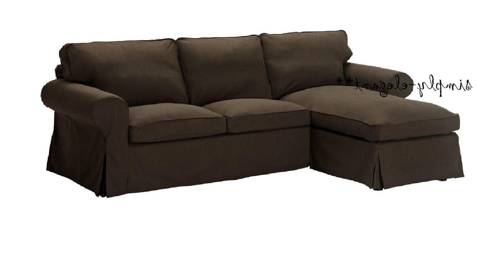 Loveseats With Chaise With Most Recently Released Ikea Ektorp Svanby Brown Slipcover Cover For Loveseat W/ Chaise (View 9 of 15)