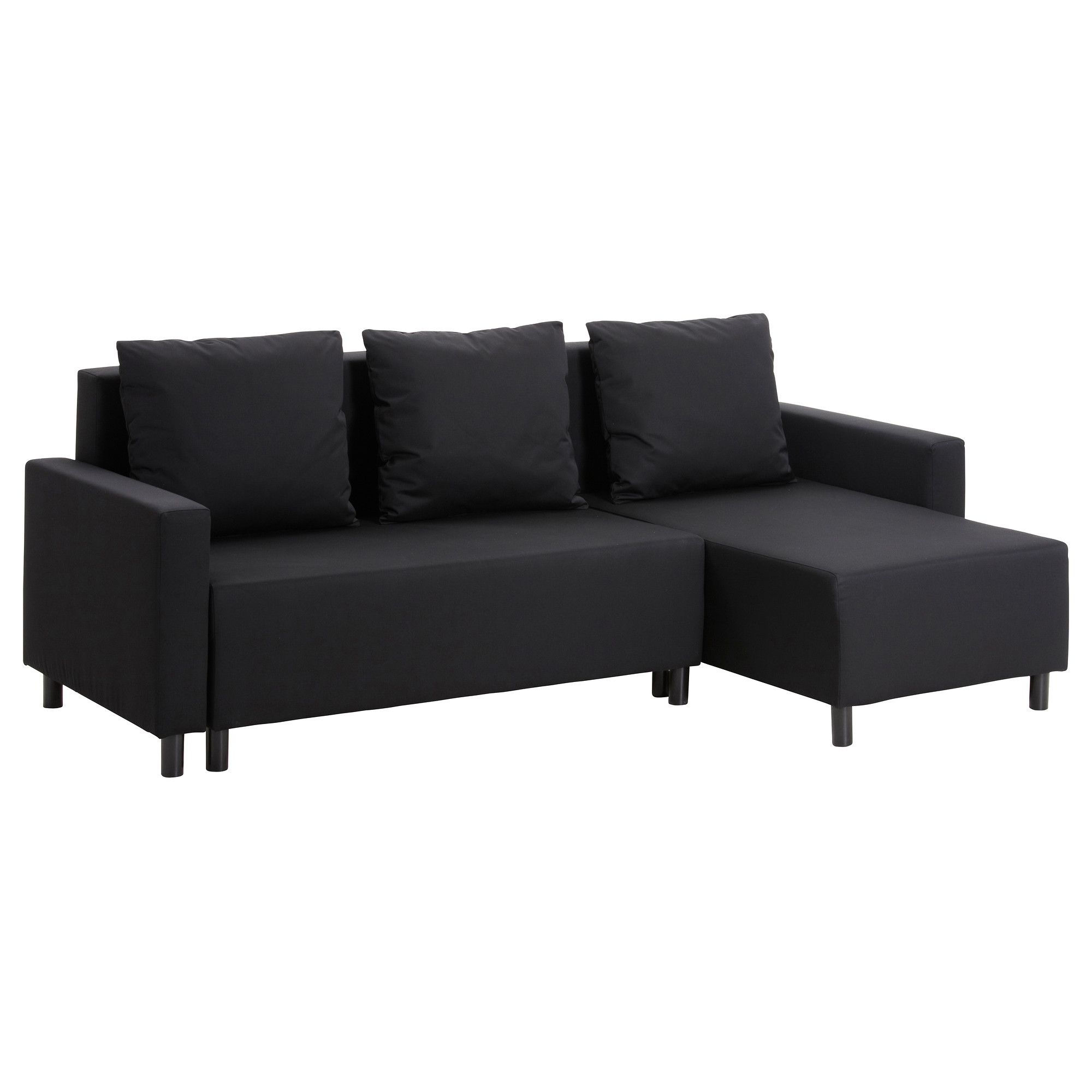 Lugnvik Sofa Bed With Chaise Lounge – Granån Black – Ikea Throughout Recent Ikea Sofa Beds With Chaise (View 11 of 15)