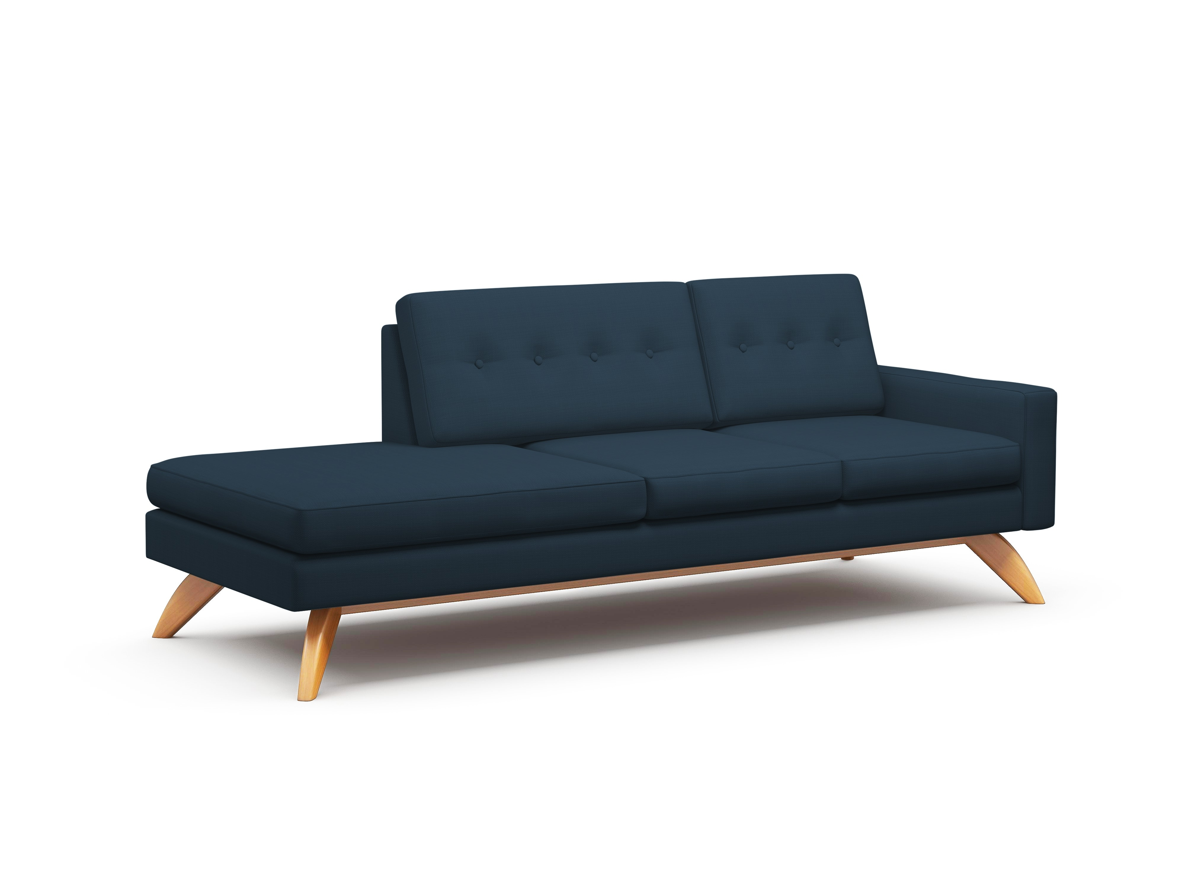 "Luna 94"" One Arm Sofa With Chaise – Truemodern™ In Most Current One Arm Chaises (View 7 of 15)"