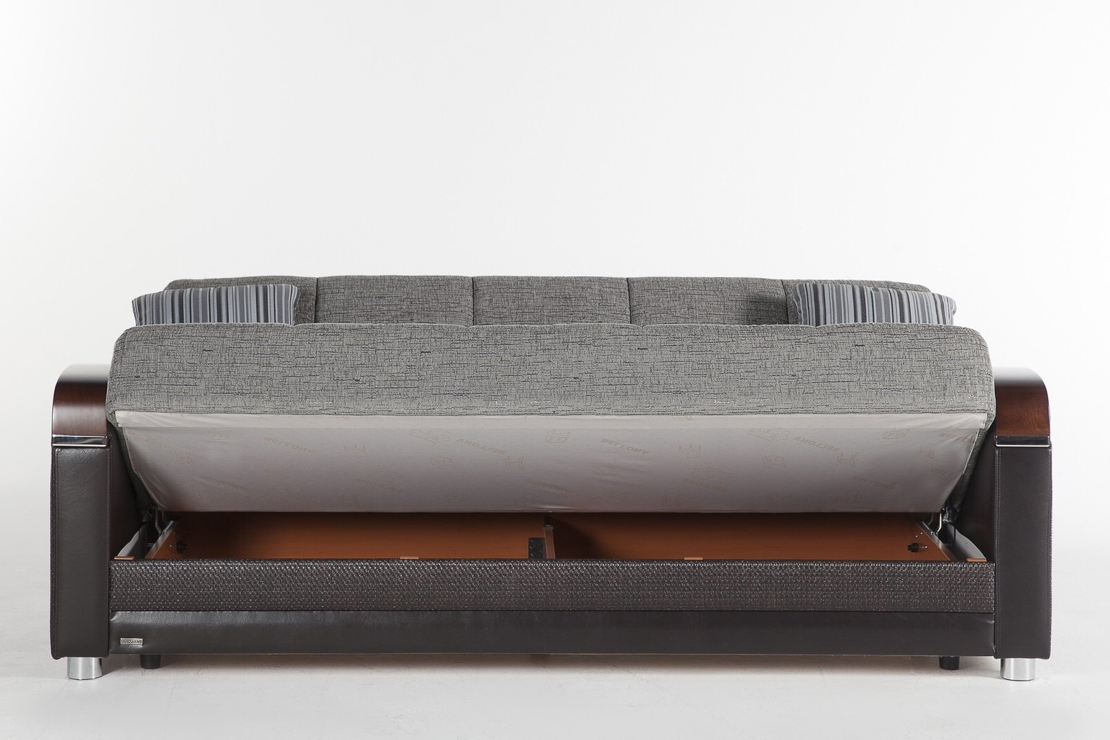 Luna Fulya Gray Convertible Sofa Bedistikbal (Sunset) Regarding Recent Convertible Sofas (View 10 of 15)