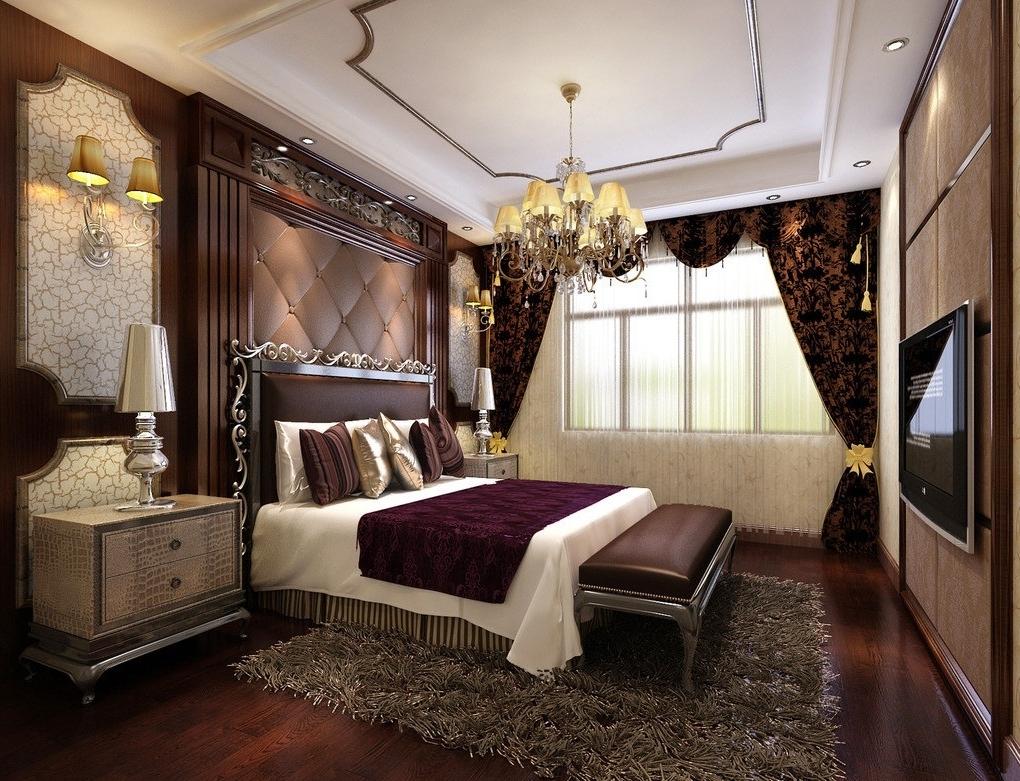 Luxury Bedroom With Bedroom Chandeliers – Designoursign Regarding 2018 Bedroom Chandeliers (View 10 of 15)