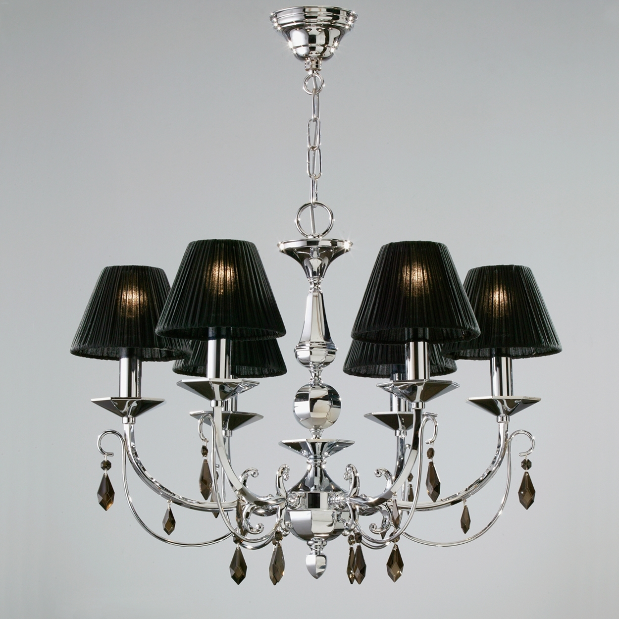 Luxury Black Lamp Shade Chandelier All About House Design : Cool Inside Recent Black Chandeliers With Shades (View 8 of 15)