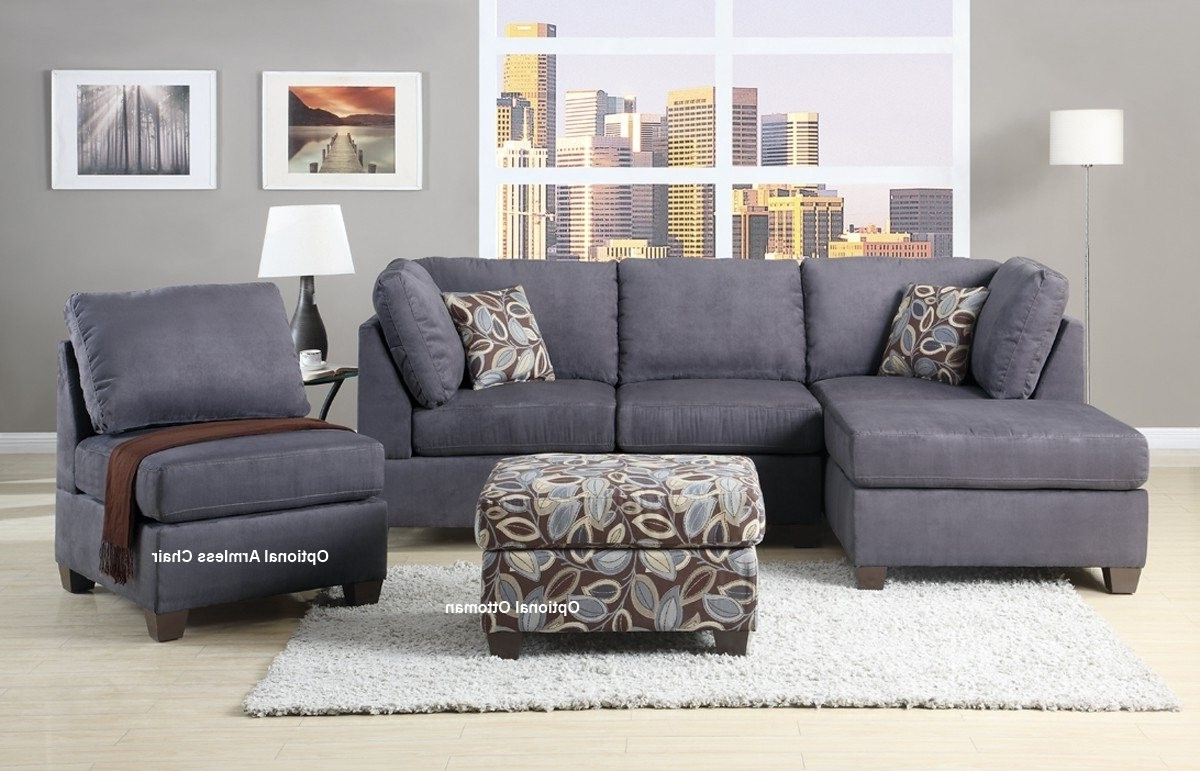 Luxury Microfiber Sectional Sofa With Chaise 19 With Additional Intended For Newest Grey Sectionals With Chaise (View 12 of 15)