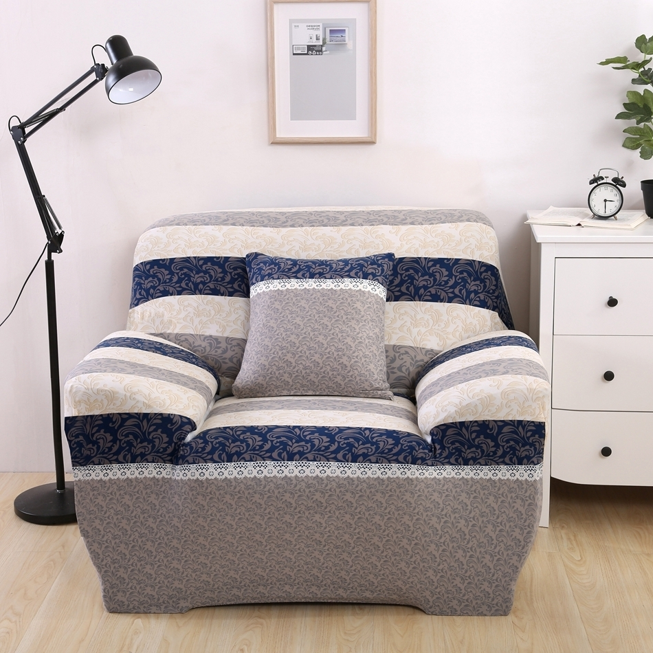 Luxury Reclining Sofa Covers Modern Design Washable Stripe Brief With Trendy Washable Sofas (View 15 of 15)